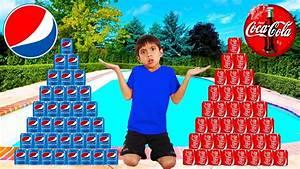 Coke Vs Pepsi Pretend Play Funny Boy Goes Shopping U0026 Play