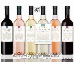 marriage milestones wedding gift wine champagne bottle labels With first wine bottle labels