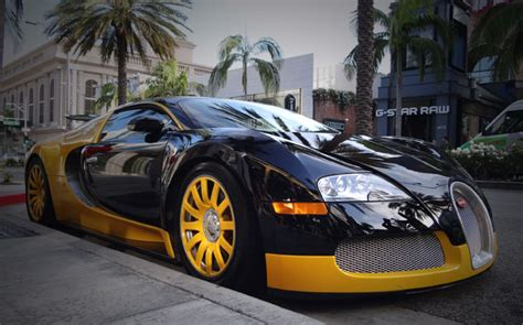 Custom Yellow & Black Bugatti Veyron Spotted In Beverly