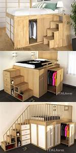 Impero, Space, Saving, High, Beds, From, Italform, Design, Impero, Space, Saving, High, Bed, U2026