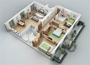 apartment designs shown with rendered 3d floor plans With marvelous maison sweet home 3d 16 plan de maison 60m2 3d