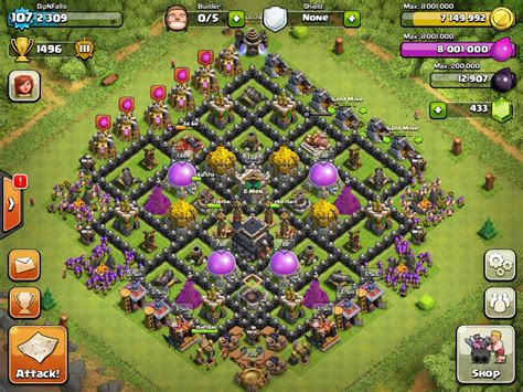 clash of clans base designs top 10 clash of clans town level 9 defense base