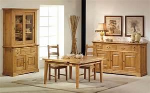 Salle a manger rustique 100 chene massif honfleur for Meuble de salle a manger avec meuble en bois