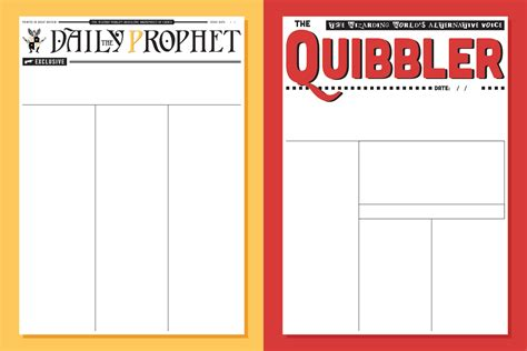 harry potter templates paperzip free teaching resources