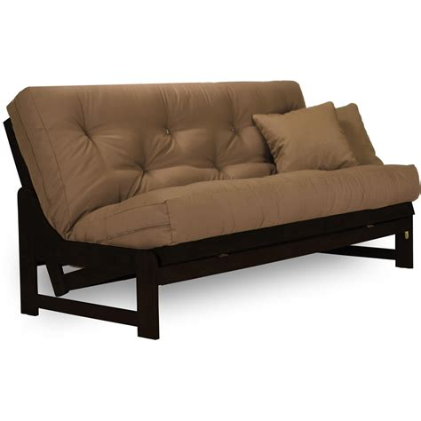 wood futon arden rich espresso wood futon frame sleek contemporary