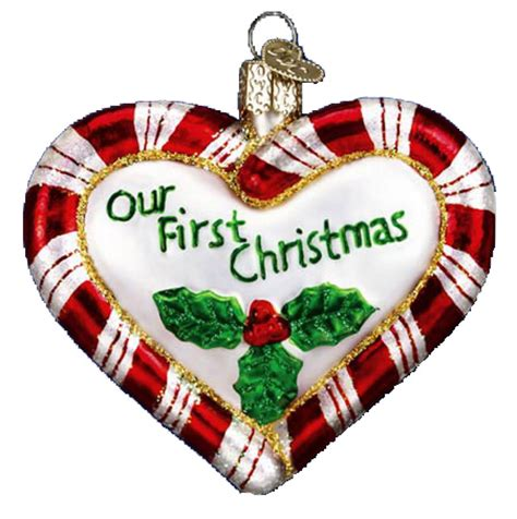 old world christmas wedding newlywed ornaments by old world christmas