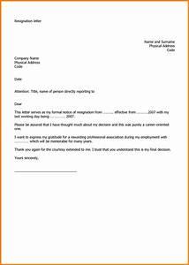 8+ letter format for job resignation ledger paper