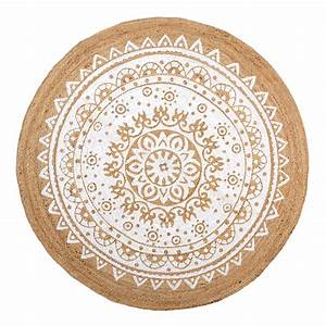 tapis de jute rond reversibles With tapis rond coco
