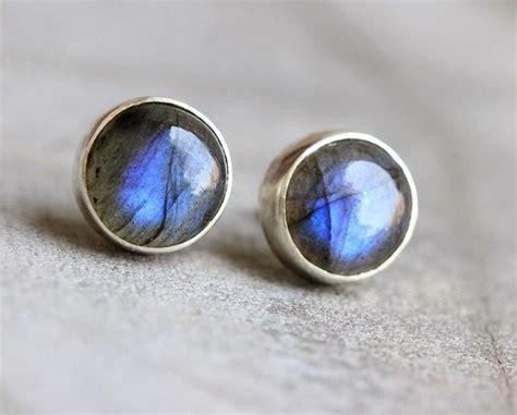 buy natural labradorite earrings stud earrings silver