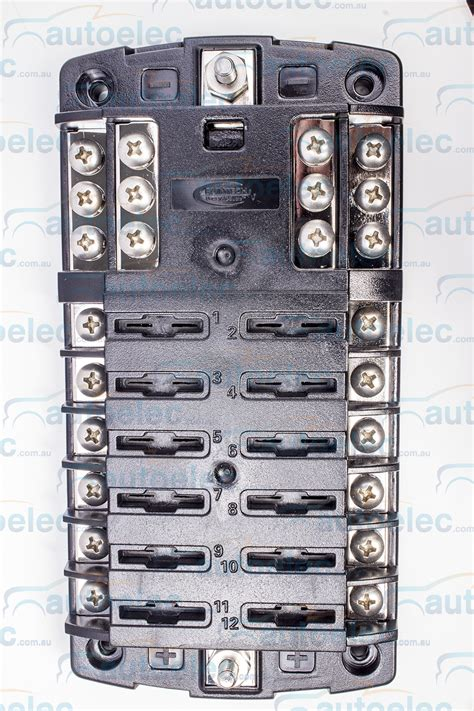 Marine Fuse Box Wiring by Fuse Block Box Holder Caravan Marine Dual Battery 12 Volt