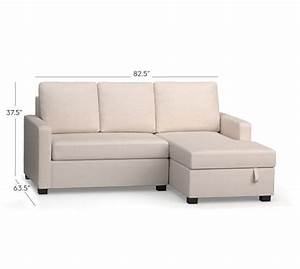 soma bryant upholstered sofa with storage chaise sectional With pottery barn chaise sofa sectional