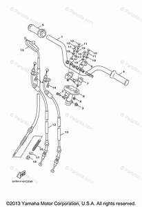 Yamaha Scooter 2007 Oem Parts Diagram For Steering Handle