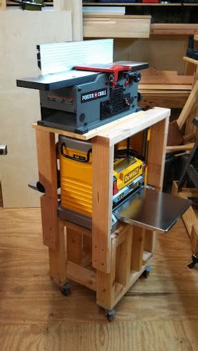 quick easy planerjointer rolling stand woodworking