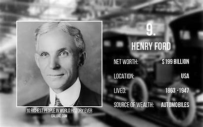 Richest History Ever Henry Ford Worth Money