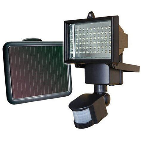 solar panel led flood garden light pir motion sensor 60led