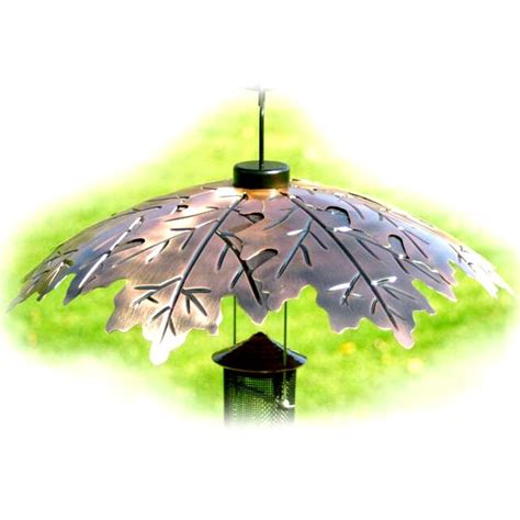 how to make a rain guard for bird feeder brushed copper bird feeder weather shield 18 inch yonoodle