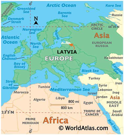 Latvia Map / Geography of Latvia / Map of Latvia ...