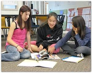 Girl Middle School Students