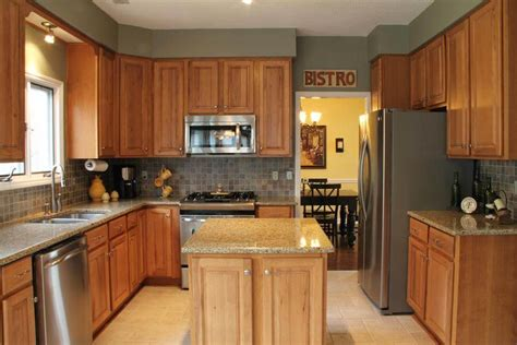 hickory kitchen island hickory kitchen cabinets island loccie better homes