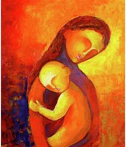 R S Yarn Mother And Child Abstract Painting: Buy R S Yarn ...