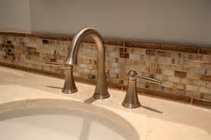 glass tile backsplash ideas bathroom 30 ideas of using glass mosaic tile for bathroom backsplash