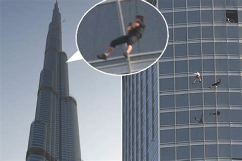 Tom Cruise Hangs Out From Burj Khalifas Observation Deck