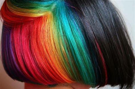 bold af hidden hair colors    wear  work