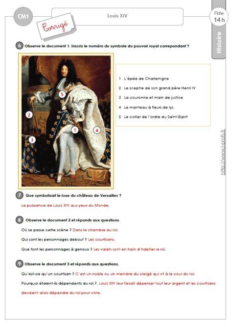 exercices cm louis xiv et la monarchie absolue