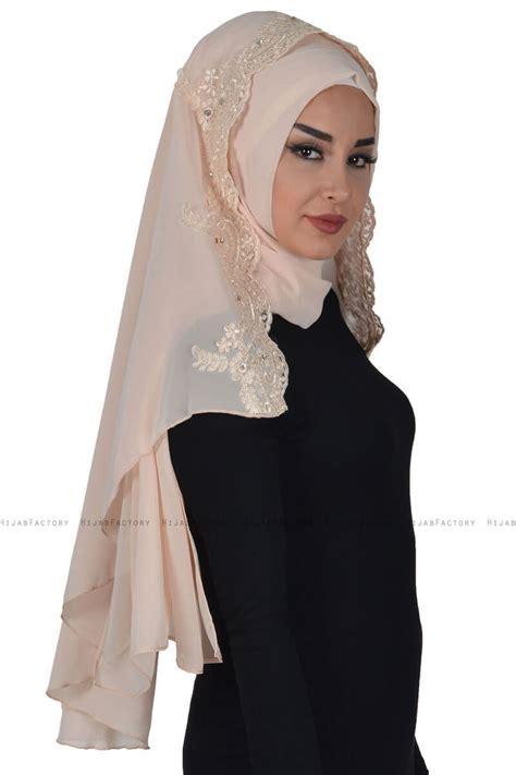 helena beige praktisch hijab ayse turban