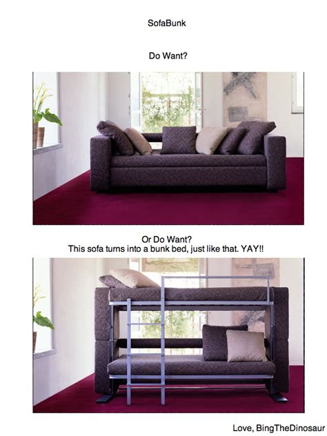 that turns into bunk bed sofabunkdo want or do want this sofa turns into a bunk bed