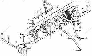 Honda Atv 1978 Oem Parts Diagram For Fuel Strainer    Fuel