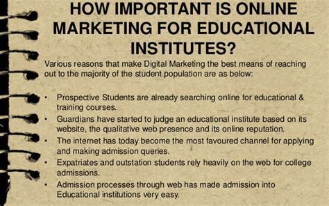 digital marketing for education digital marketing for educational institutes