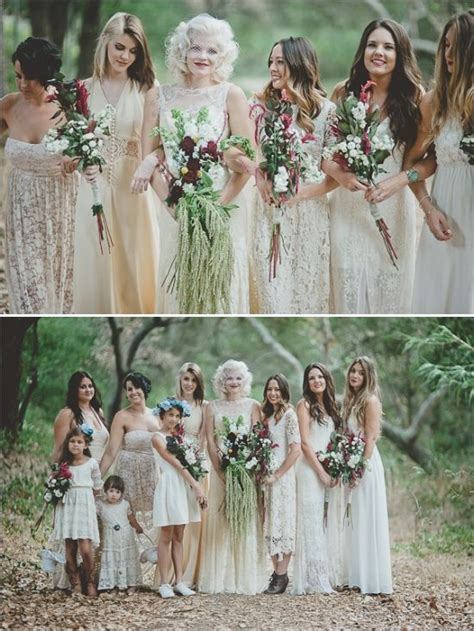 chic bohemian bridesmaid dresses ideas deer pearl flowers