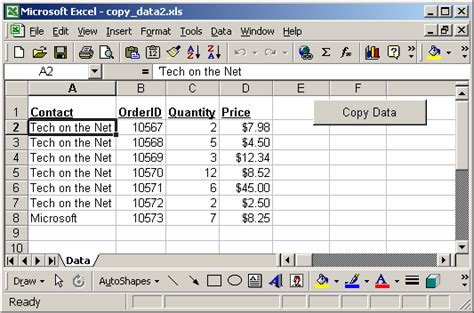 ms excel 2003 test each value in column a and copy matching values into new sheets