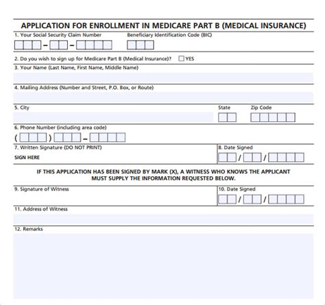 www social security gov online forms 9 medicare application forms to download sle templates