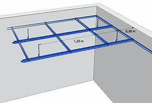 Suspentes Placo Tige Filetée : plafond suspendu traduction maison travaux ~ Dailycaller-alerts.com Idées de Décoration