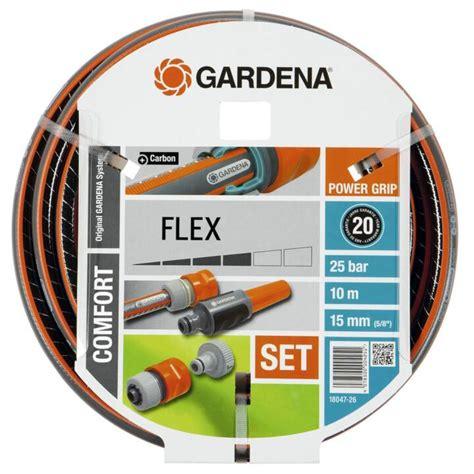 gardena bewässerung schlauch gardena comfort flex schlauch 10m inkl armaturen