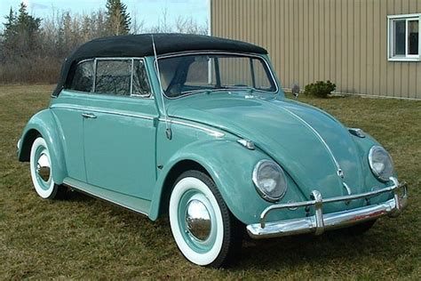 1961 turquoise beetle love in the form of cars
