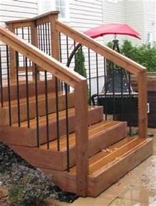 rampe de galerie en bois recherche google galerie With modele escalier exterieur terrasse 14 escalier escamotable