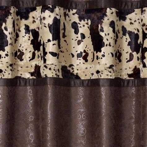 Cowhide Shower Curtain by Caldwell Cowhide Shower Curtain