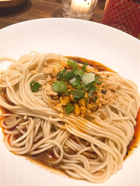 fun  eating hao noodle  tea  madam zhus kitchen visited   forks