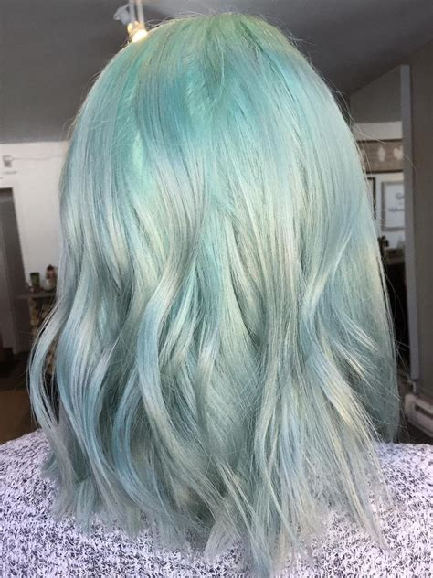 mint green hairstyles   totally amazing
