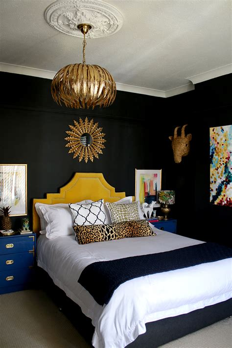 gold glam light fixture   bedroom swoon worthy