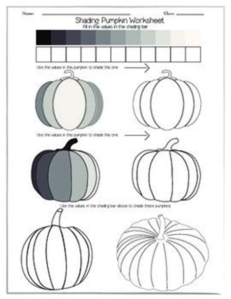 shading pumpkin worksheet pumpkins