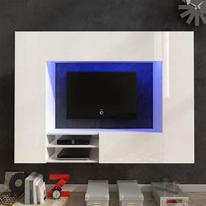 Tv Wand Weiß : hochglanz mediawand wohnwand led tv wand wei 169 2 cm g nstig kaufen ~ Sanjose-hotels-ca.com Haus und Dekorationen