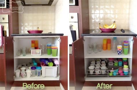 Cupboard Organisers by Kitchen Storage Idea For Cups And Drink Bottles Cupboard