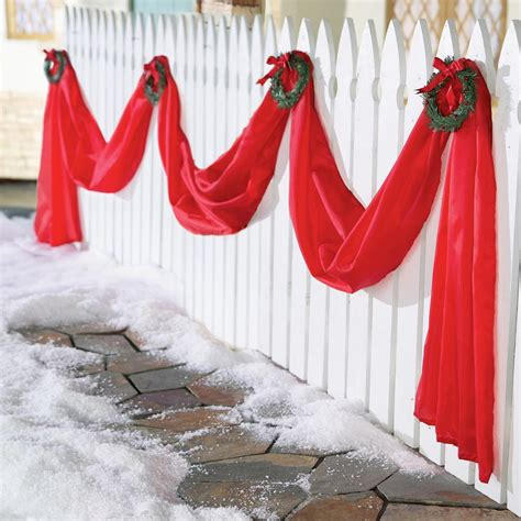 garland for decorating fences new fence garland wreath outdoor home decor 235 quot l swag ebay