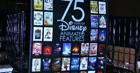 years  disney animated features poster frame