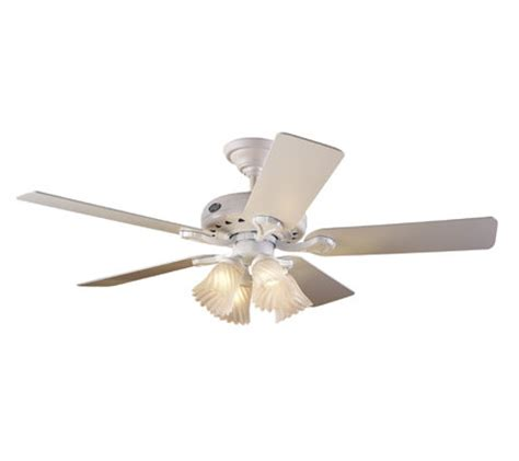 hunter eastern shore ceiling fan hunter 28096 westminster 52 quot ceiling fan with light qvc com