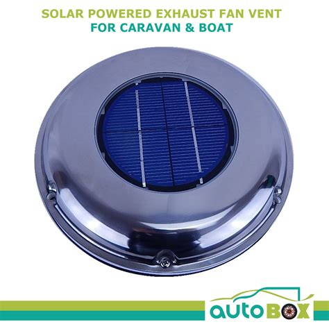 solar powered box fan solar powered caravan boat exhaust fan vent sunvent s